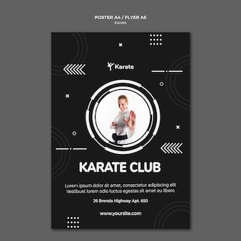 Karate klasse poster sjabloon