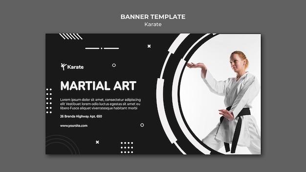 Karate klasse sjabloon banner