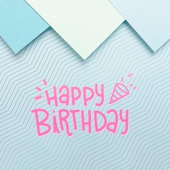 Karton met gelukkige verjaardag bericht