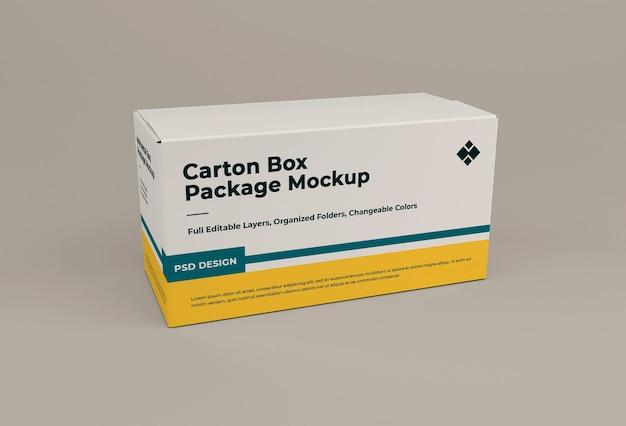 Kartonnen doos mockup geïsoleerd