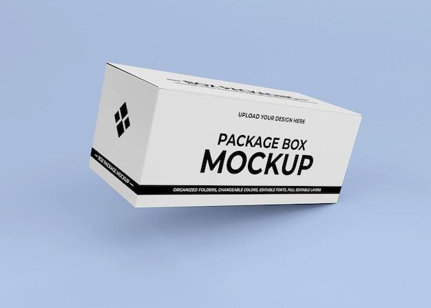 Kartonnen doos mockup ontwerp