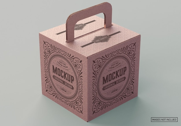 Kartonnen doos mockup