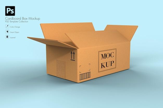 Kartonnen doos voor levering mockup geïsoleerd