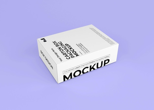 Kartonnen doosmodel voor productbranding