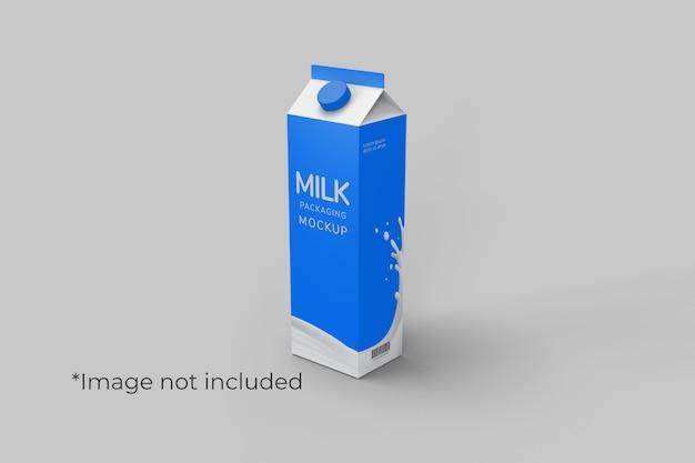 Kartonnen drankverpakkingen mockup vooraanzicht