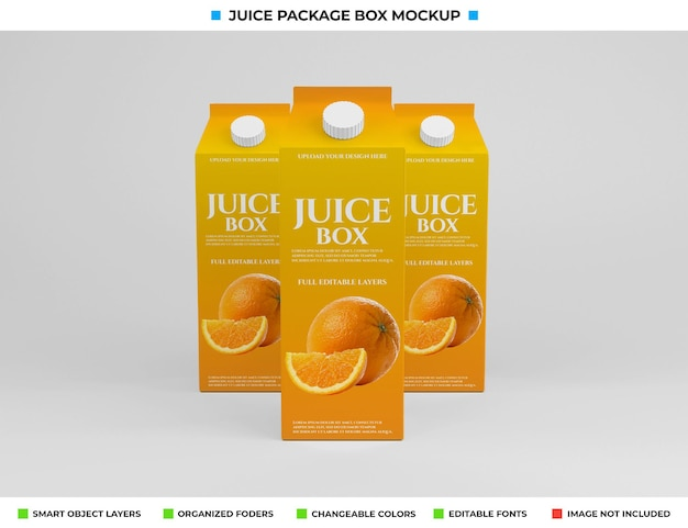 Kartonnen sapdoos pakket mockup-ontwerp