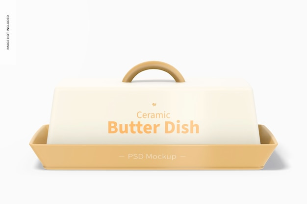 Keramisch botervlootmodel, vooraanzicht