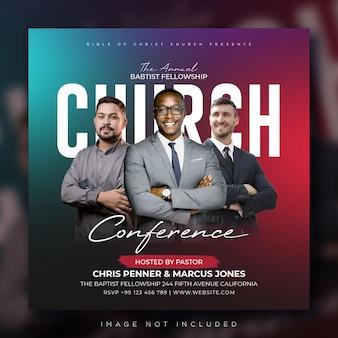 Kerkconferentie flyer sociale media plaatsen webbanner