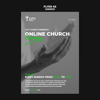 Kerkfolder met online diensten