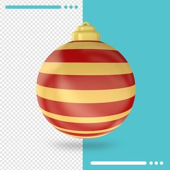 Kerst 3d-rendering geïsoleerd