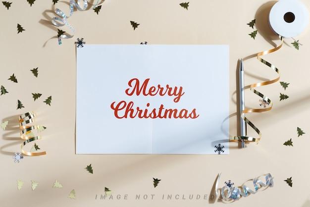 Kerst achtergrond met mockup
