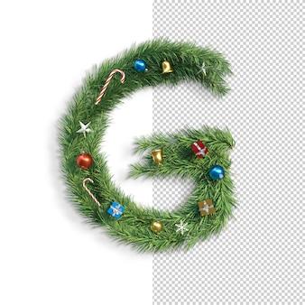 Kerst alfabet letter g.
