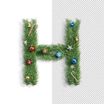 Kerst alfabet letter h.