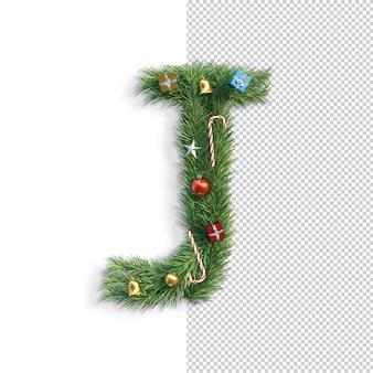 Kerst alfabet letter j.