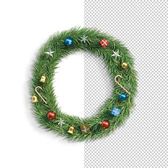 Kerst alfabet letter o