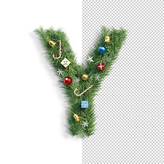 Kerst alfabet letter y