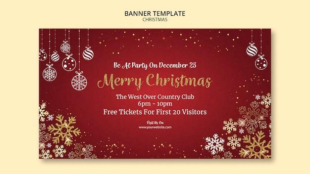 Kerst banner sjabloonontwerp