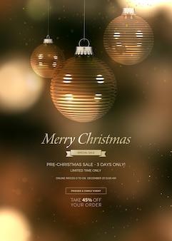 Kerst banner voor verkoop
