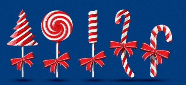Kerst candy psd afbeeldingen