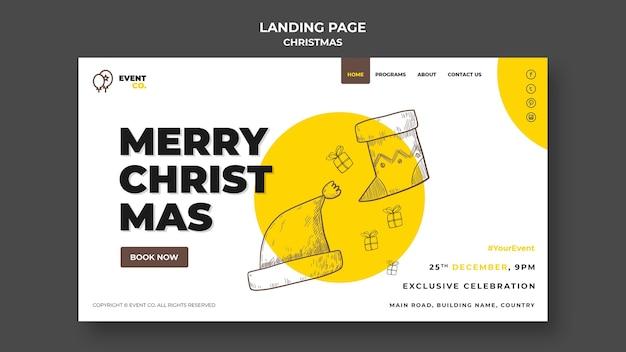 Kerst concept bestemmingspagina sjabloon