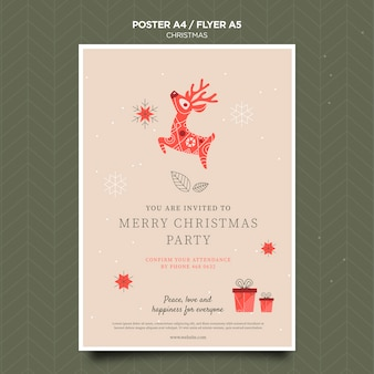 Kerst concept folder sjabloon