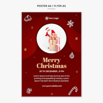 Kerst concept poster sjabloon