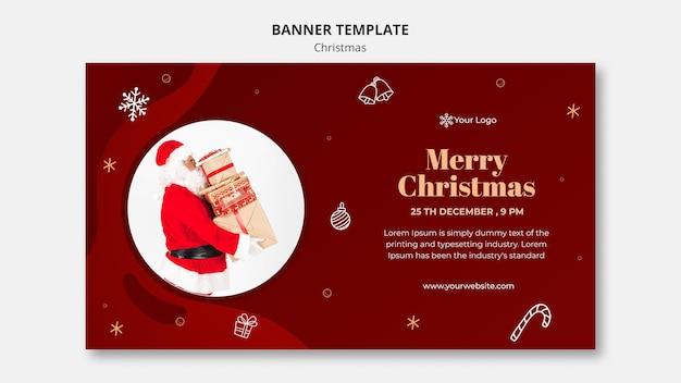 Kerst concept sjabloon voor spandoek
