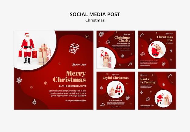 Kerst concept sociale media post sjabloon