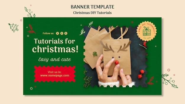 Kerst diy tutorial sjabloon banner