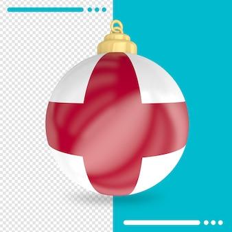 Kerst engeland vlag 3d-rendering geïsoleerd