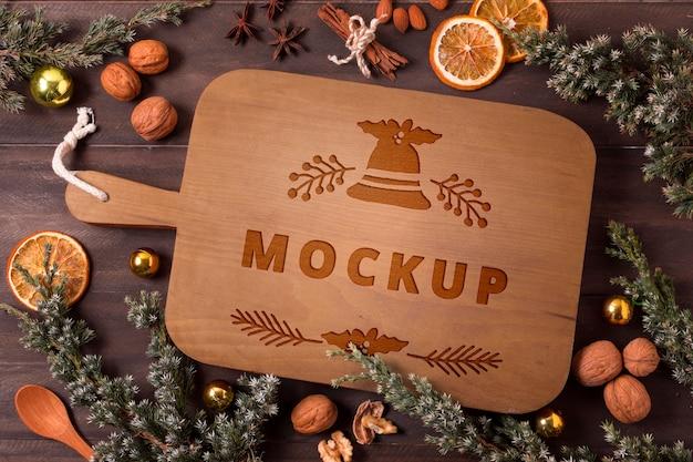 Kerst eten concept mock-up
