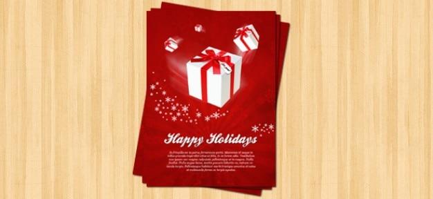 Kerst flyer psd template