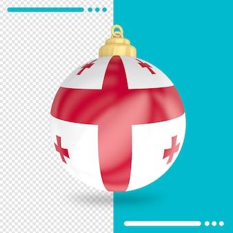 Kerst georgië vlag 3d-rendering geïsoleerd