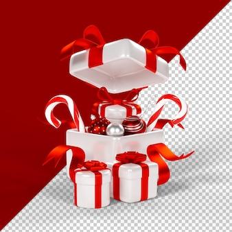 Kerst geschenkdoos geïsoleerd 3d render