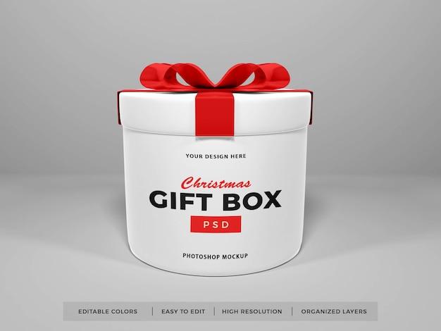 Kerst geschenkdoos met lint mockup
