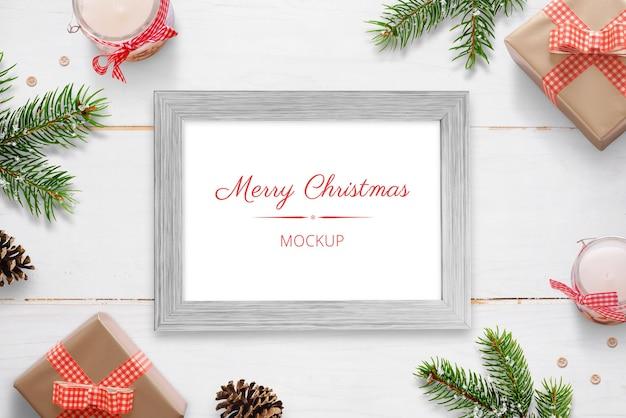 Kerst horizontale fotolijst mockup
