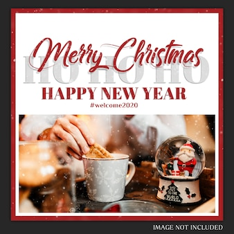 Kerst instagram post card