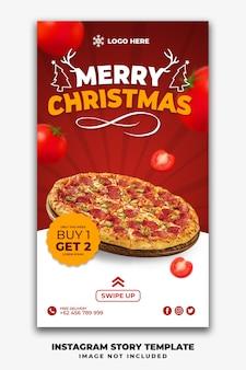 Kerst instagramverhalen of social media post restaurant-sjabloon