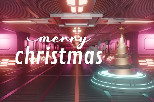 Kerst leeg podium mockup