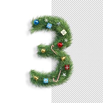 Kerst lettertype, nummer 3