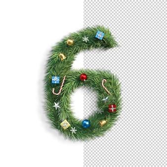 Kerst lettertype, nummer 6