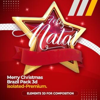 Kerst logo voor compositie geïsoleerd
