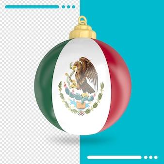 Kerst mexico vlag 3d-rendering geïsoleerd