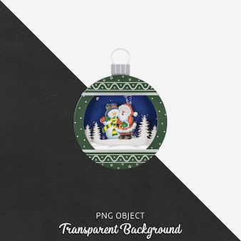 Kerst object op transparant