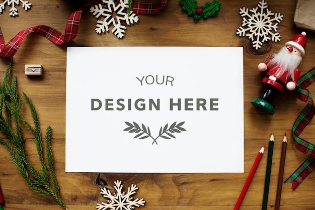 Kerst ontwerp ruimte mockup