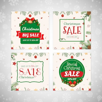 Kerst sale banners