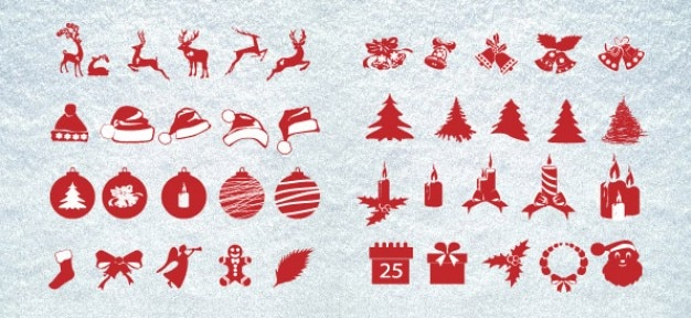 Kerst silhouetten mega pack