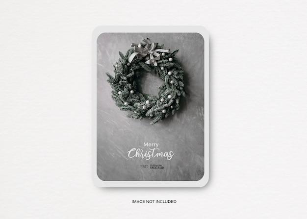 Kerst sjabloon mockup