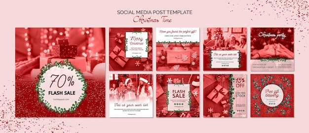 Kerst sociale media post sjabloon
