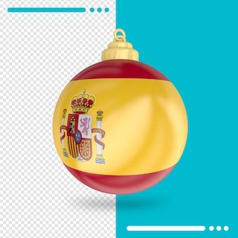 Kerst spanje vlag 3d-rendering geïsoleerd